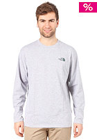THE NORTH FACE  Classic Logo L/S Shirt heather grey/noah green