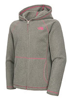 THE NORTH FACE Kids Glacier Hooded Full Zip Fleece Jacket graphite grey heather