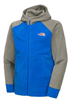 THE NORTH FACE Kids Glacier Hooded Full Zip Fleece Jacket nautical blue/graphite grey heather