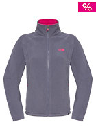 THE NORTH FACE Womens 100 Glacier Hooded Zip Sweat greystone blue