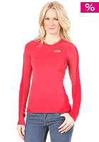 THE NORTH FACE Womens Base Layer Hybrid Merino L/S Crew Neck Shirt barberry pink