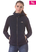 THE NORTH FACE Womens Cosmos Knit Full Zip Hooded Jacket cosmic blue heather