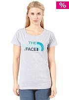 THE NORTH FACE Womens Easy S/S T-Shirt heather grey/kodiak blue