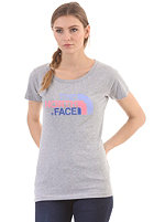 THE NORTH FACE Womens Easy S/S T-Shirt heather grey/sugary pink