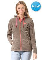 THE NORTH FACE Womens Mezzaluna Full Zip Jacket weimaraner brown/fiery coral