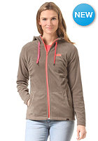 THE NORTH FACE Womens Mezzaluna Full Zip weimaraner brown/fiery coral