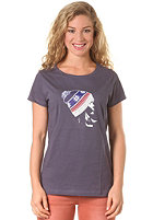 THE NORTH FACE Womens The Beanie S/S T-Shirt greystone blue