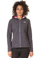 THE NORTH FACE Womens Zermatt Lite Hooded Full Zip Knit Jacket greystone blue heather