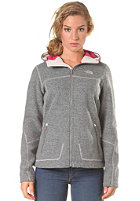 THE NORTH FACE Womens Zermatt Lite Hooded Full Zip Knit Jacket high rise grey heather