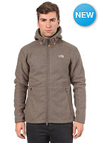 Zermatt Hooded Zip Sweat weimaraner brown