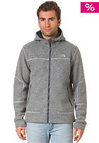 THE NORTH FACE Zermatt Lite Hooded Full Zip Knit Jacket high rise grey heather