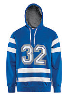 THIRTYTWO Crosscheck Fleece Hooded Sweat enamel blue