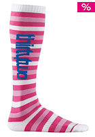 THIRTYTWO Womens Suzy 2 Stripes Socks pink