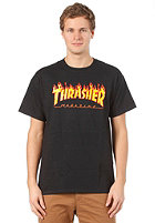 THRASHER Flame S/S T-Shirt black