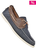 EK Heritage Boat 2 eye dark brown with navy