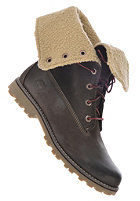 TIMBERLAND Kids Authentics Waterproof Shearling Boot 6 inch dark brown