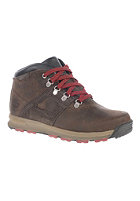 TIMBERLAND Kids GT Scramble Mid Lthr WP dark brown with red