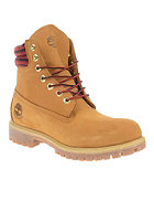 TIMBERLAND Premium Boot 6 inch wheat with red & black plaid