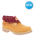 TIMBERLAND Roll Top wheat nubuck with black and red plaid