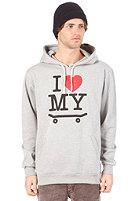 TRAP I Love My Board Hooded Sweat heather grey