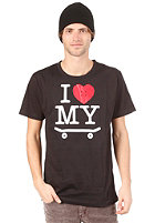 TRAP I Love My Board S/S T-Shirt black