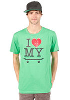 TRAP I Love My Board S/S T-Shirt classic green