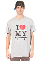 TRAP I Love My Board S/S T-Shirt heather grey