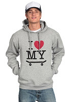 TRAP I Love My Skateboard Hooded Sweat heather grey