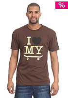 TRAP I Love My Skateboard S/S T-Shirt heather brown