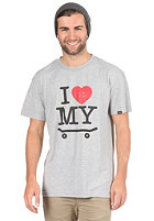TRAP I Love My Skateboard S/S T-Shirt heather grey