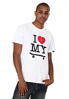 TRAP I Love My Skateboard S/S T-Shirt white
