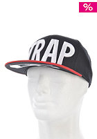 TRAP Logo Snapback Cap black / red