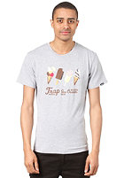 TRAP New Ice Cream S/S T-Shirt heather grey