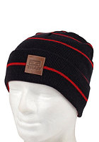 TRAP Square Beanie stripe: navy / tomato