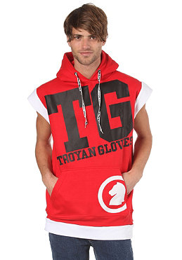 TROYAN Butsh Sleeveless Hooded Sweat red