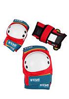 TSG Kids Junior Protection-Set red-white-blue