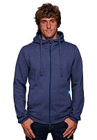 TWOTHIRDS Bisca Hooded Zip Sweat stone blue melange