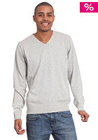 TWOTHIRDS Vega V-Neck Woolsweat grey melange