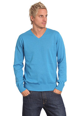 TWOTHIRDS Vega V-Neck Woolsweat swedish blue