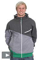 UCON Kaliad Hooded Zip Sweat dark grey/grey/green