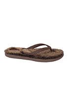 Womens Fluffie Sandals chocolate/metallic gold