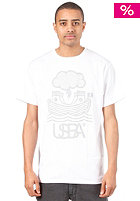 UNITED SKATEBOARD ARTISTS Arch S/S T-Shirt white / silver grey