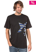 UNITED SKATEBOARD ARTISTS Big Star Stripes S/S T-Shirt black/white marine
