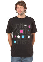 UNITED SKATEBOARD ARTISTS Century S/S T-Shirt black/white b . blue fuchsia black