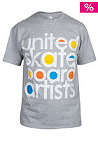 UNITED SKATEBOARD ARTISTS Century S/S T-Shirt grey / white - 3c