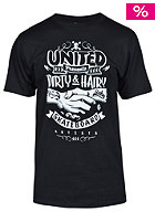 UNITED SKATEBOARD ARTISTS Dirty & Hairy S/S T-Shirt black / white
