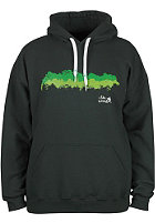 UNITED SKATEBOARD ARTISTS I like Wood Hooded Sweat forest green