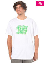 UNITED SKATEBOARD ARTISTS Logo Krizzle S/S T-Shirt white/lime spring green dallas