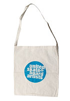 UNITED SKATEBOARD ARTISTS Logo Shopping Bag nature/shark blue