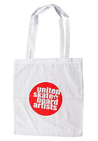 UNITED SKATEBOARD ARTISTS Logo Shopping Bag white/red